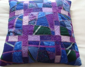 Cushion crazy quilted patchwork