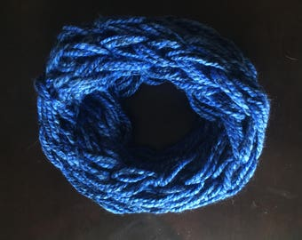 Double wrapped arm knit wool infinity scarf