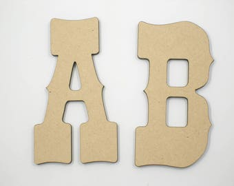 10cm MDF Wood Wooden Letters 3mm Thick WES