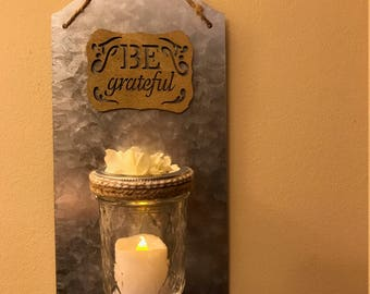 Mason Jar Sconce, Mason Jar Decor, Rustic Home Decor, Mason Jar