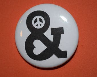 Peace and love (3) 1.5 Pin