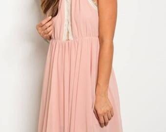 Petal Pink Flowy Dress