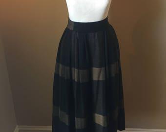 Vintage Plaid Wool Skirt