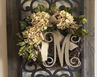 Cream hydrangea wreath number 1 seller