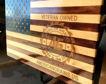 custom made wooden flags