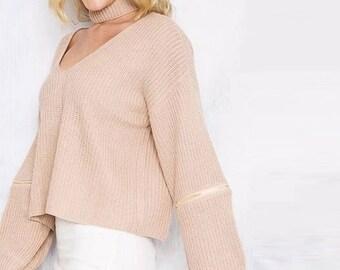 Casual V neck knit