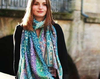 CALYPSO rainbow cashmere scarf