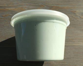 light blue/white butter slime