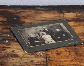 Victorian Family Black and White Vintage Photograph