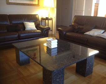 Coffee table in natural stone