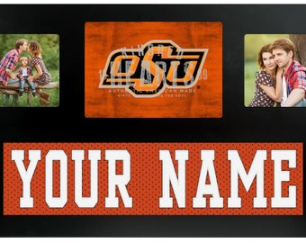 Oklahoma State University Cowboys NCAA College Jersey Custom Picture Frame