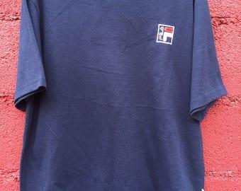 RARE FILA SHIRT Big Logo Back Casual Wear