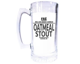 32 oz Oatmeal Stout Scented BeerCandle - Reusable 32 oz Mug