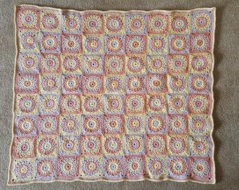 Sunburst Crochet Baby Blanket