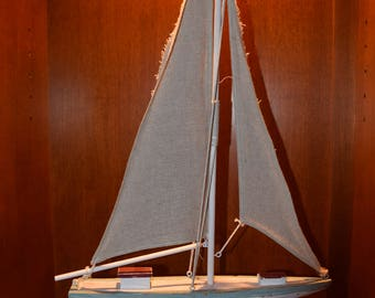 Wooden Sailboat Interior Decor