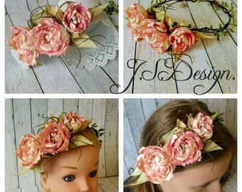 Flower wreath wedding communion flower hair accessories flower Crown wreath