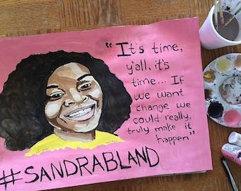 Sandra Bland Painting