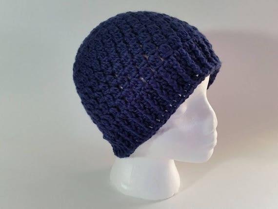 Crochet Navy Clusters Hat Pattern Only Pdf Instant Digital Download