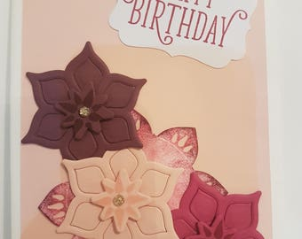 Pale Pink Happy Birthday Card