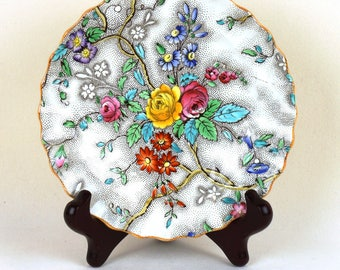 Set of 8 Antique Patricia Spode bread and butter plates