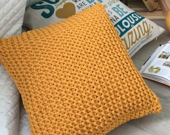 Hand Knitted Throw Pillow Cover - Crochet Slopes - 20+ Amazing Colours