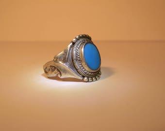 Vintage Blue Statement ring