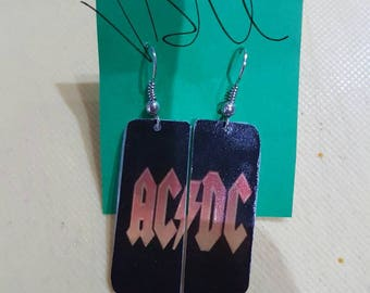 AC/DC logo earrings Orange
