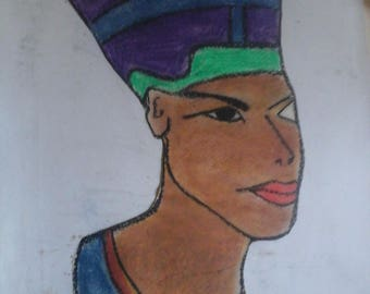 Queen Nefertiti Art Vintage Collectable