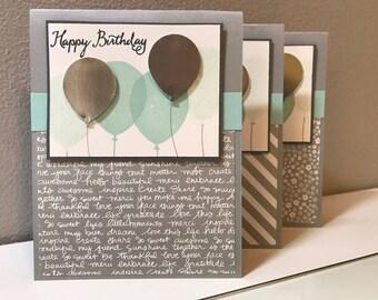 Birthday, Balloon Handmade Stampin' Up! Card