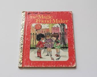 Vintage 1975 'The Magic Friend-Maker' Golden Book