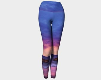 Purple Sunset Yoga Pants