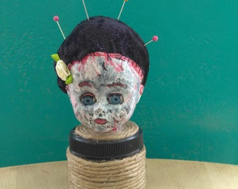 Bride of Frankenstein pincushion