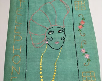 Vintage Embroidered Telephone Book Cover
