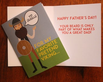 Father's Day Viking Card