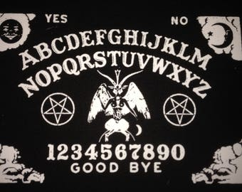 Satanic Ouija Board Baphomet Pentagram Black Canvas Patch Black Metal Occult Doom Electric Wizard