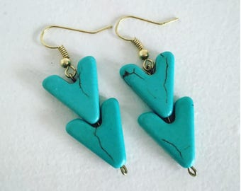 Howlite Chevron Earrings