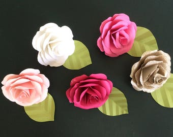 5 inch paper roses