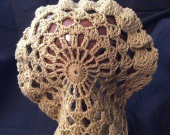 Crochet lace snood