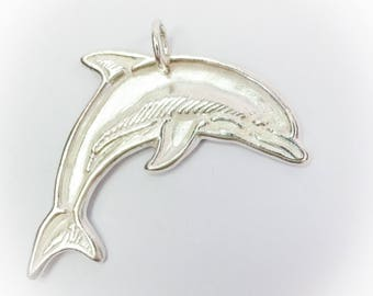 "Silver Pendant ""Playing Dolphin"""