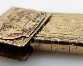 Victorian Gold Fld. Sliding Book Shaped Locket