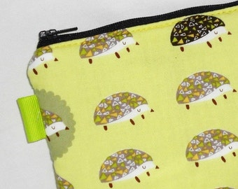 SALE SALE SALE - 20% Off Kawaii  Padded Zippered Pouch / Hedgehogs Camera Bag / Cosmetic Case / Camera Bag / Card Holder /  Bag Organizer -