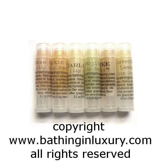 6 Lip Balm set valentine's day husband gift for dad boyfriend gift spring wedding wife gift box ribbon option pick your scents Mix or Match