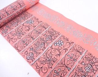 Vintage silk kimono bolt  - retro pink