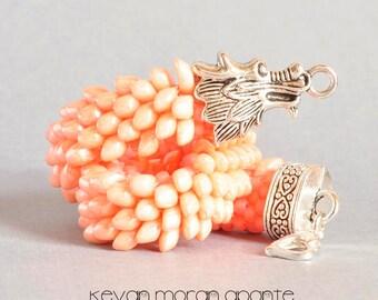 Dragon bracelet in peach
