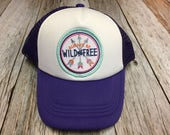 """Girls Toddler or Youth Purple Trucker Hat with """"Al..."""