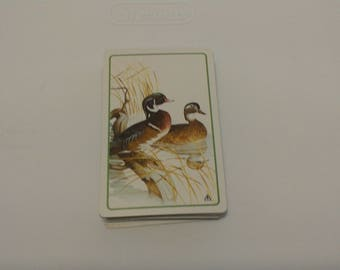 Vintage Playing Cards Ducks in Marsh Brown & Bigelow Made in USA Complete Set Artist Supply