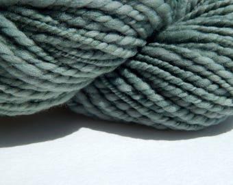 Copper Penny Blue-Vintage Dye Method Handspun Yarn