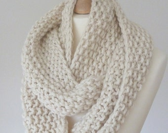 Handknit cowl made with luxury yarn - READY TO SHIP