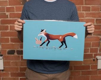 Fox - Animal Art Print - Fox Art Print - 11x17 Original From the Artist