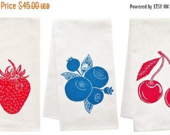 NEW ROOF SALE Berry Awesome organic tea towel set
